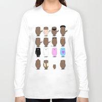 bears Long Sleeve T-shirts featuring Bears Bears Bears by Aaron Cushley