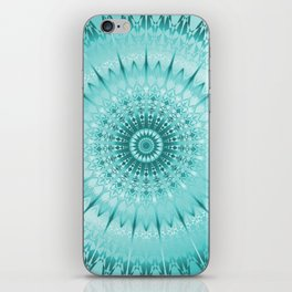 Tuquoise Metallic Mandala iPhone Skin