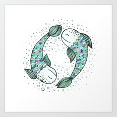 Pisces - weird fishes Art Print