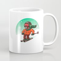 ski Mugs featuring Ski by nicosarmiento