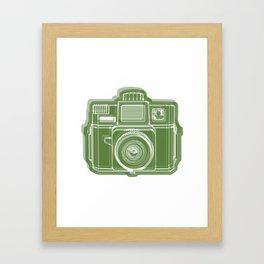 I Still Shoot Film Holga Logo - Green Framed Art Print