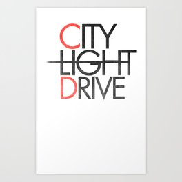 City Light Drive Art Print