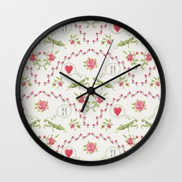 The mantis girl is hungry of love Wall Clock