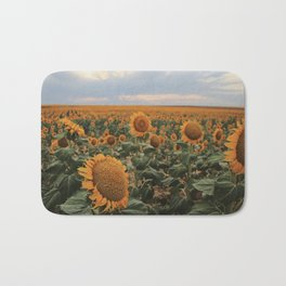 denver sunflower field Bath Mat