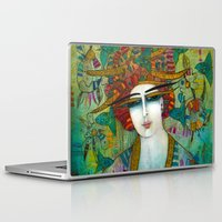 aquarius Laptop & iPad Skins featuring AQUARIUS by ALBENA