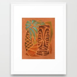 Palm Pattern Framed Art Print