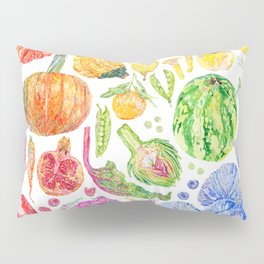 Rainbow of Fruits and Vegetables Pillow Sham