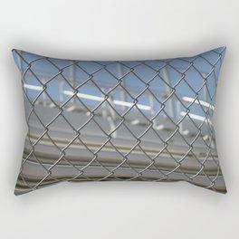 Bleachers Behind Fence Rectangular Pillow