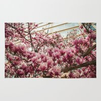 dc Area & Throw Rugs featuring DC Blossoms  by Ashley Hirst Photography