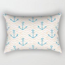 Anchors and waves Rectangular Pillow