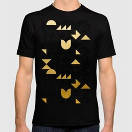 geometric black & gold T-shirt