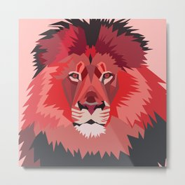 All hail the red lion Metal Print