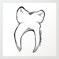 tooth Art Prints featuring Tooth by Addison Karl