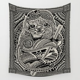 Polynesian Sloth Wall Tapestry