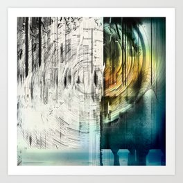 The Collapsing Sky Art Print