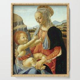 """Andrea del Verrocchio """"Madonna with seated Child"""" Serving Tray"""