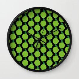 Lime Pattern Wall Clock