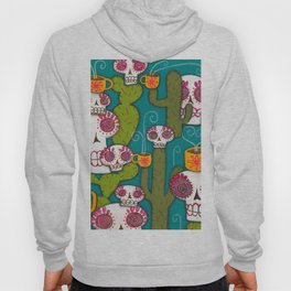Skulls, Cacti and Atomic Coffee Hoody