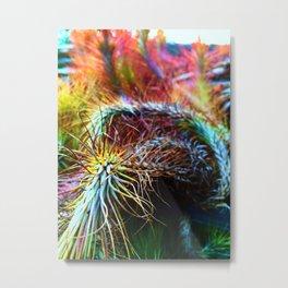 Rainbow Vines Metal Print