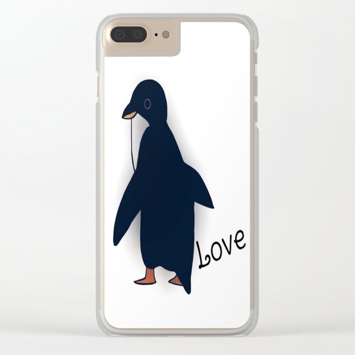 penguin-219 Clear iPhone Case