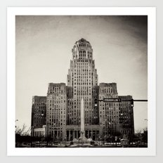 Down Town Buffalo NY city hall Art Print