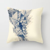 polygon Throw Pillows featuring Polygon Tower by Intelligent Pencil
