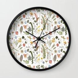 Collectors Garden Sketchbook Wall Clock