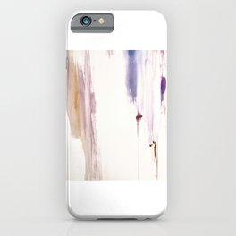 Sugar and Spice [2]: a minimal, pretty abstract piece in pinks, purple, mauve, and tan iPhone Case