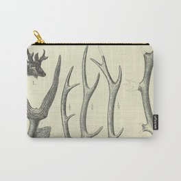 Vintage Antlers Carry-All Pouch