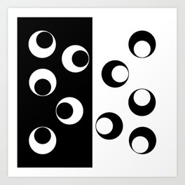 Black an White Abstraction Art Print
