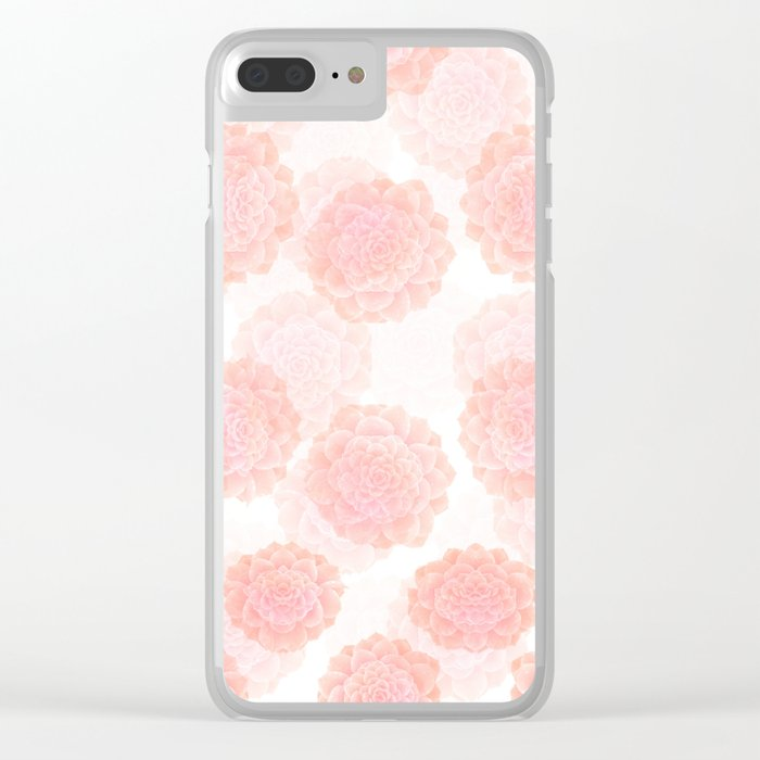 pink succulents Clear iPhone Case