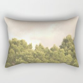 Tree tops and sky Rectangular Pillow