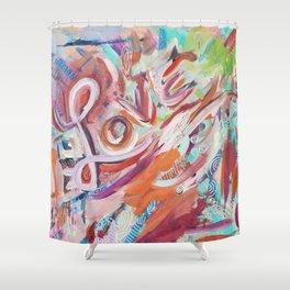 Love Grafitti Shower Curtain