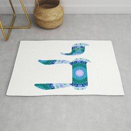 Jewish Art - Chai 3 - Sharon Cummings Rug