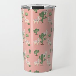 Alpaca with Cacti Travel Mug