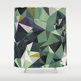 Martinique Low Poly Shower Curtain