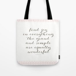 Equally Wonderful Tote Bag