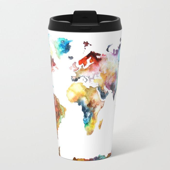 World map travel mug by blackwinter society6 world map travel mug gumiabroncs Image collections