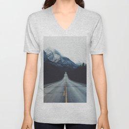Mountain Road #forest Unisex V-Neck