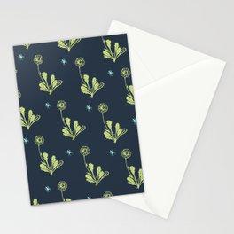 Spider Daisies (green + navy) Stationery Cards