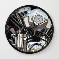 harley Wall Clocks featuring Harley  by Marieken