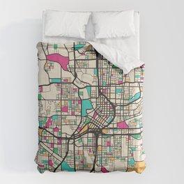 Colorful City Maps: Atlanta, Georgia Comforters