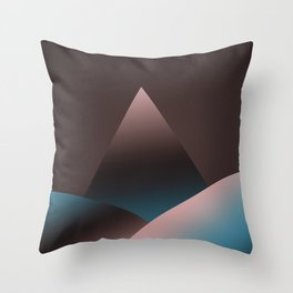 Mountain X 2 Throw Pillow