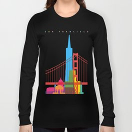 Shapes of San Francisco. Accurate to scale Long Sleeve T-shirt