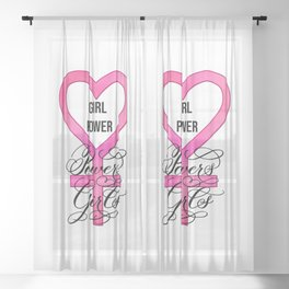 Girl Power Powers Girls Sheer Curtain
