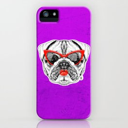Lady Pug iPhone Case