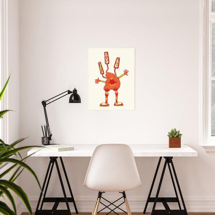 Robot Alien Monster No 159 Poster