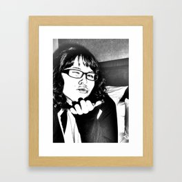 the gritty kiss Framed Art Print