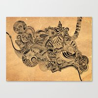 labyrinth Canvas Prints featuring Labyrinth by DuckyB