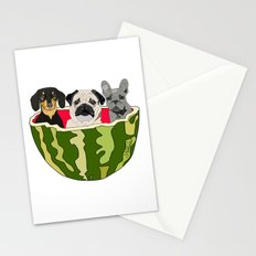 Watermelon Dogs Stationery Cards